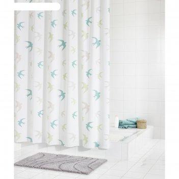 Штора для ванных комнат swallow, цветная, 180х200 см