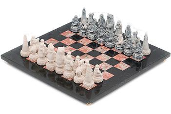 Шахматы северные народы креноид змеевик 36х36см