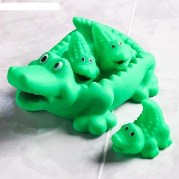 Набор для ванной «крокодильчик»: мыльница, игрушки 3 шт.