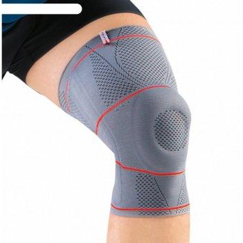 Ортез на коленный сустав, nrg, арт. dkn-203 (xl, серый)