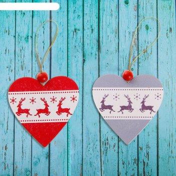 Подвеска новогодняя зимнее сердце