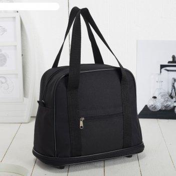 7886 п-600 сумка хозяйственная трансформер, 32*27/38*15, черный, 1 отд, 1