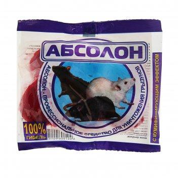 Тесто-брикет от грызунов абсолон, пакет, 100 г