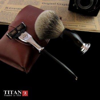Набор для бритья станок совместим с mach 3 черное дерево мадагаскар titan
