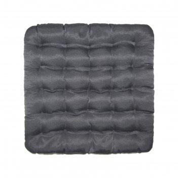 Подушка на стул уют серый 40х40см лузга  гречихи, грета хл35%, пэ65%