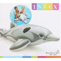 Надувная игрушка для плавания дельфин 201х76 см, от 3 лет 58539