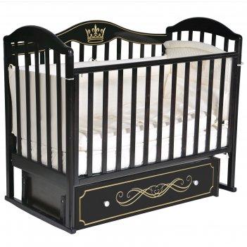 Кроватка «антел» anita-999, универсальный маятник, ящик, цвет шоколад