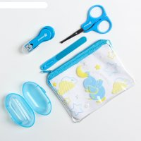 Набор маникюрный детский «для малыша», 4 предмета: ножнички, книпсер, пило