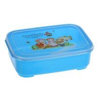 Контейнер пищевой 15,5х11х4,5 см мишки, ложка, цвета микс