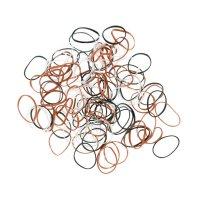 Резинки res034 для волос силиконовые, цветные, mini (100 шт.)