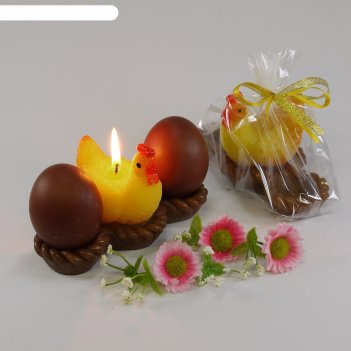 Свеча-подставка для яиц курочка