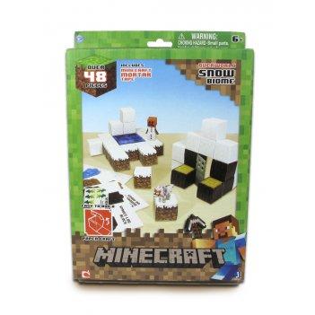 Minecraft игровой конструктор из бумаги papercraft снежный биом, 48 детале