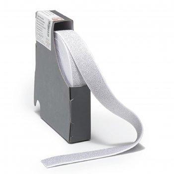 Эластичная лента color 25мм*7м, цвет бело-серебряный