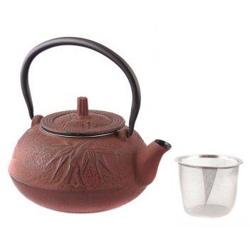 Заварочный чайник чугунный с эмалированным покрытием внутри 1000 мл (кор=8