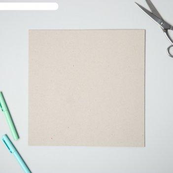 Переплетный картон для творчества (набор 10 листов) 30х30 см, толщина 3 мм