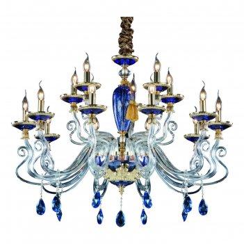Люстра 5125/11 lm-15 simona 15x40w e14 золото/голубой 100x100x70 см