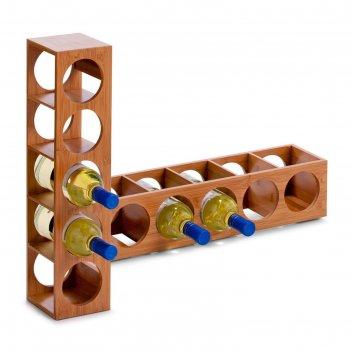 Подставка для бутылок zeller, 13,5х12,5х53 см, бамбук