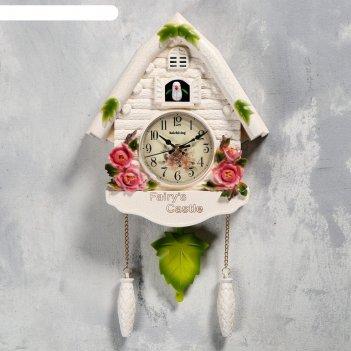 Часы настенные с кукушкой замок фей, 2 шт 3 аа, 2 шт r14, плавный ход, 44х