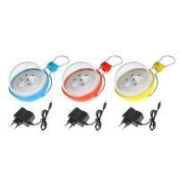 Фонарик аккумуляторный лампа 7 диодов, 220v, цвета микс
