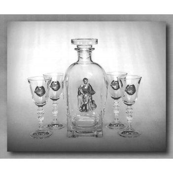 Набор для водки с рюмками гусарский арт. ншт307гс-54