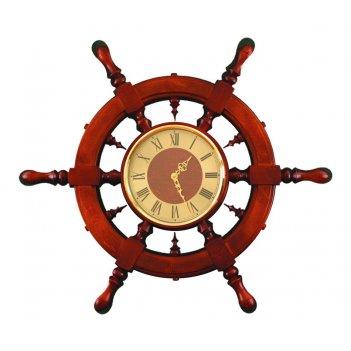 Шчст-с11 часы штурвал сувенирный (6 ручек)