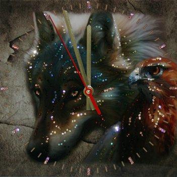 Картина сваровски - часы взгляд хищника