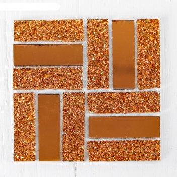 Мозаика стеклянная на клеевой основе №21, цвет медный