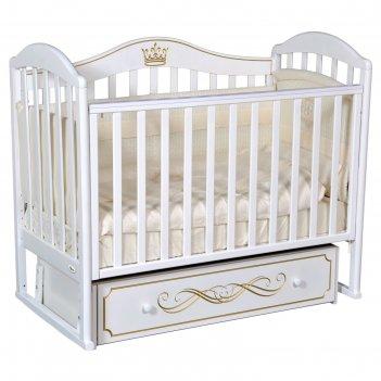 Кроватка oliver camilla elite, универсальный маятник, ящик, цвет белый