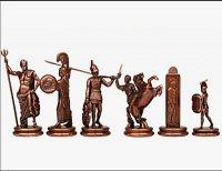 Шахматы оригинальные сувенирные  троянская война  (mp-s-19-c-54-r)