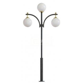 Стальной фонарный столб т-12-3 со светильником 6,161 м.