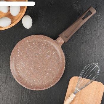 Сковорода блинная «алтай», d=22 см, пластиковая ручка, антипригарное покры