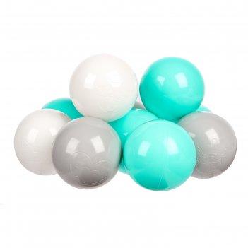 Шарики для сухого бассейна с рисунком, диаметр шара 7,5 см, набор 60 штук,