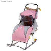 Санки-коляска ника детям-2 (розовый)
