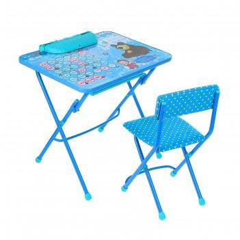 Набор мебели азбука4:маша и медведь: стол, пенал,стул