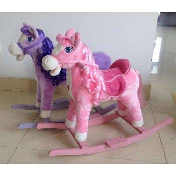 Т56416, 1toy лошадка-качалка девочка