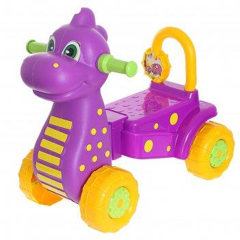 Каталка детская дракон, цвет: фиолетовый