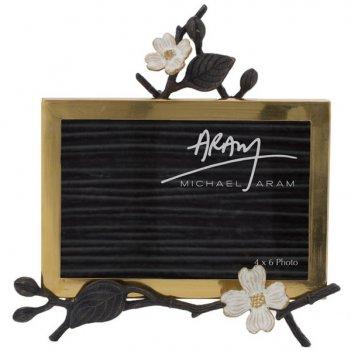 Рамка для фото на подставке michael aram цветок кизила 10х15см
