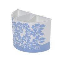 Подставка камелия для зубных щеток  большая  бел-голубая