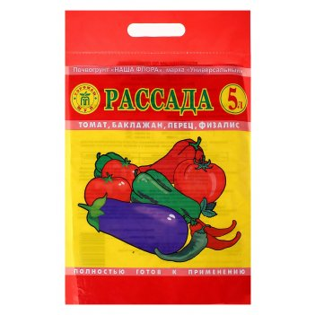 Почвогрунт для рассады томатов, перца, баклажанов, 5 л (3,1 кг)