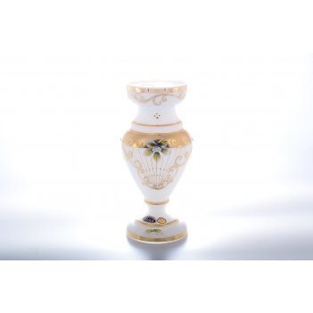 Ваза белая bohemia star crystal 25 см