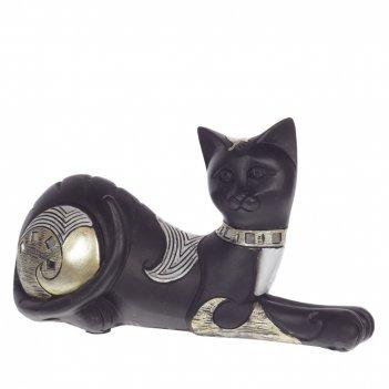 Фигурка декоративная кошка, l23 w8 h12 см