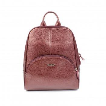 Сумка женская н/к 545 (рюкзак), вишневый флотер, металлик