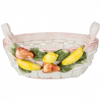 Корзина декоративная овальная фрукты 26х21х14 см.