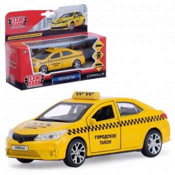 Машина металлическая «toyota corolla такси» 12см, открываются двери, инерц