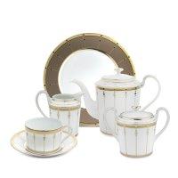 Сервиз чайный на 6 персон, 21 предмет, материал: фарфор, серия tambour, ha