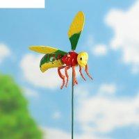 Декор садовый пчела, штекер 60 см, микс цвета