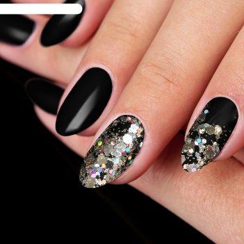 Жидкие блёстки для декора ногтей «сияющая россыпь», с аппликатором, цвет с