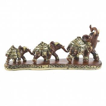 Фигурка декоративная три слона 29*8*12,5см. (с декоративными стразами) (тр