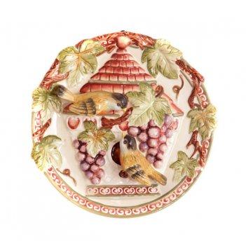 Тарелка настенная декоративная диаметр=20 см.