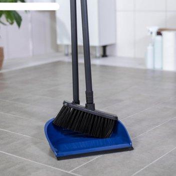 Набор для уборки фьюджи 2 предмета: совок, щетка для пола, складная, цвет